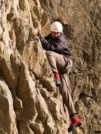 climber swarming up Stock Photo - 2514799