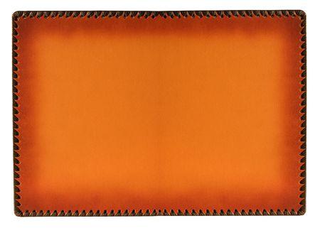 orange wet burned leather framework background Stock Photo - 2927465