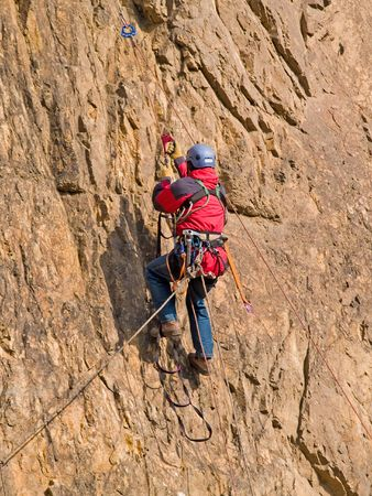 climber swarming up the rock Stock Photo - 3091156