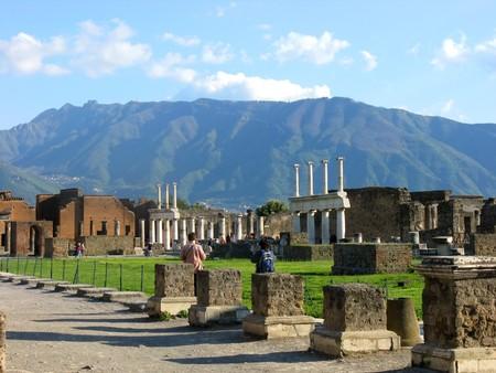 Ruins of an ancient Roman city Pompeii photo