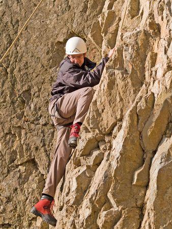 climber on the wall Stock Photo - 4603037