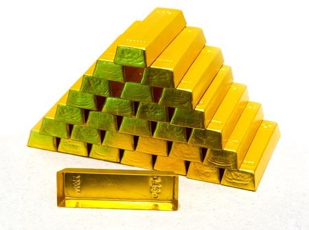pyramid from gold bullions photo