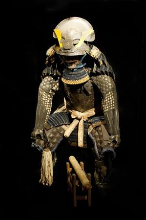 Historic Samurai Armor of famous warrior Oda Nobunaga of 16 century photo