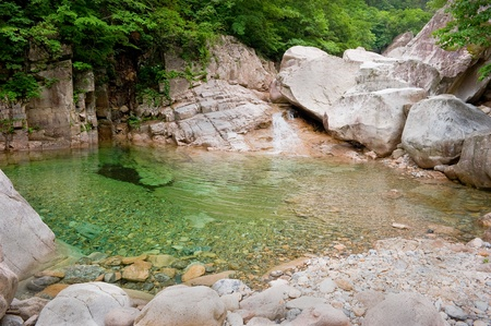 River view at Seoraksan National Park, South korea  photo