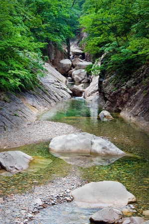 River view at Seoraksan National Park, South korea  Stock Photo - 10369366