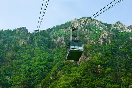 aerial ropeway of Seorak-san National Park, South korea