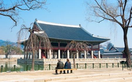Emperor Kyoungbok palace at Seoul, South Korea Stock Photo - 10853844