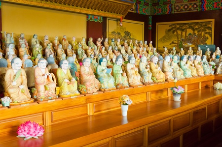 1000 buddha statues at Yakcheonsa Temple, Jeju Island, South Korea Stock Photo - 14787197