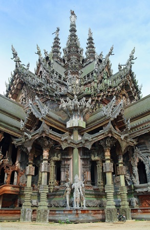 national landmark: Santuario della verit� a Pattaya d'interesse nazionale della Thailandia