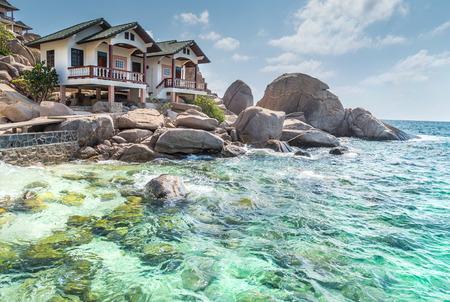 koh: typical resort view at Koh Tao island Thailand Editorial