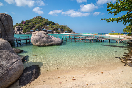 View of Nang Yuan island of Koh Tao island Thailand Editorial