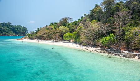 rang: white beach of the Koh Rang Isle of Ko Rang National Park, Koh Chang, Thailand Editorial