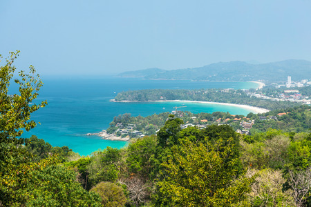 kata: Kata Beach Viewpoint at Phuket island, Thailand Stock Photo