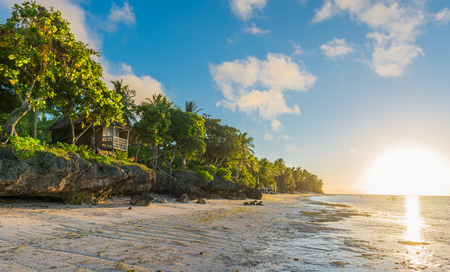 Sunrise view at the Anda White Long Beach at Bohol island of Philippines
