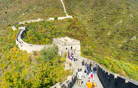 simatai: Great Wall of China in Fall Editorial