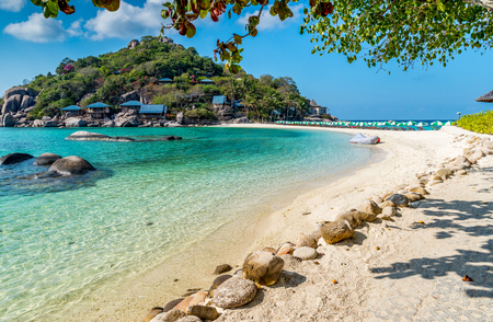 View of Nang Yuan island of Koh Tao island Thailand