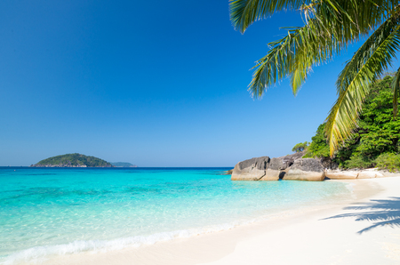 Beach of Similan Koh Miang Island in national park, Thailand Banque d'images