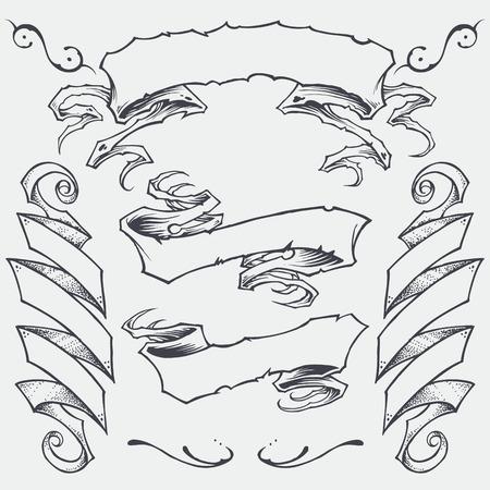 les arcs: Rubans vecteur �l�ment Illustration