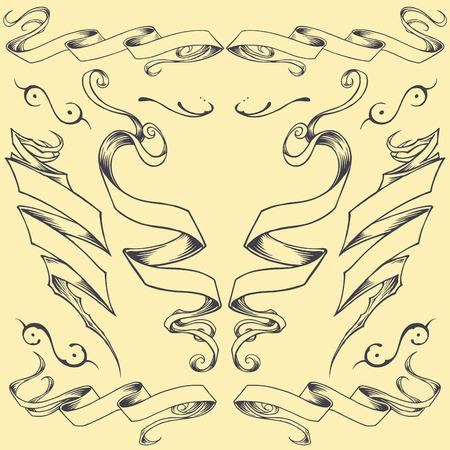 ribbons: Ribbons element vector