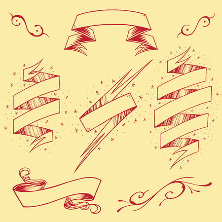 scrunch: Ribbons element vector