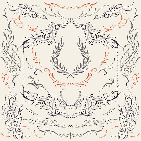florid: Floral frame   Border Ornaments Illustration