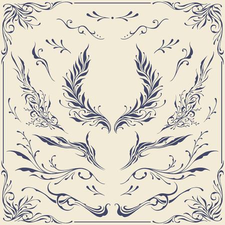 wreaths: Floral frame   Border Ornaments Illustration