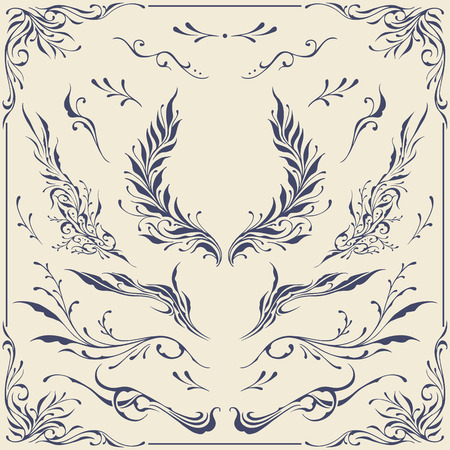 Floral frame   Border Ornaments Stock Vector - 25382461