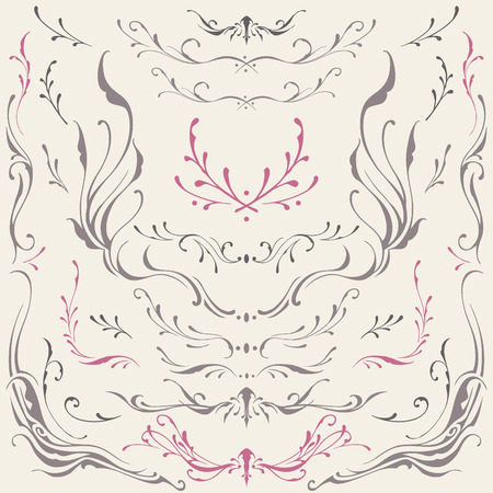 scroll work: Floral frame and Border Ornaments