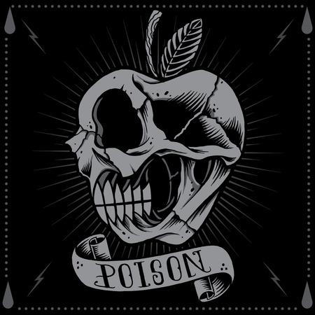 food poison: Poison Apple Skull