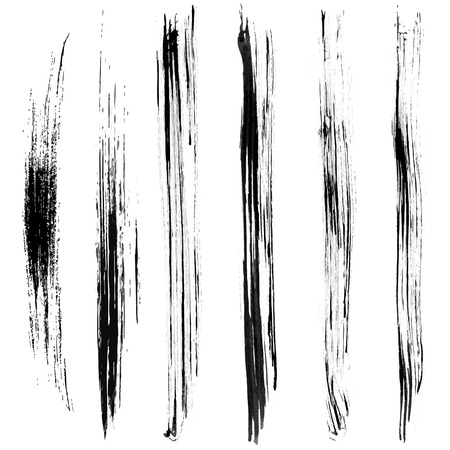greyscale: Brushes Stroke Greyscale volume set 03 Illustration