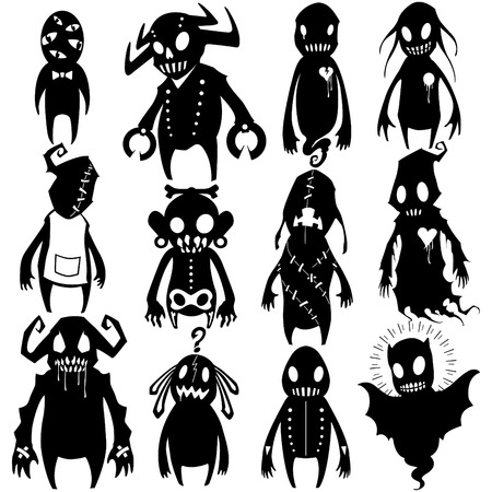 Little Monsters - set 03 Иллюстрация