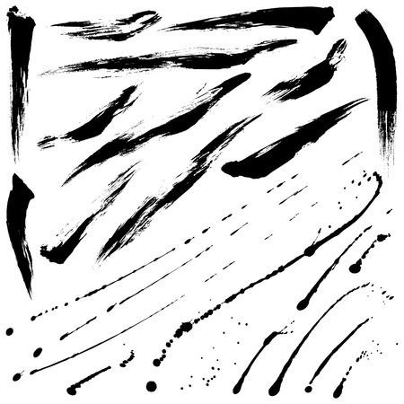 brush strokes: Splatter brushes and Brush Strokes set 09
