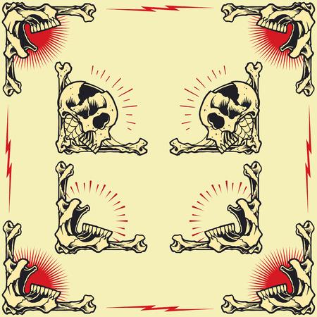 Skull Frames set 02 Vector