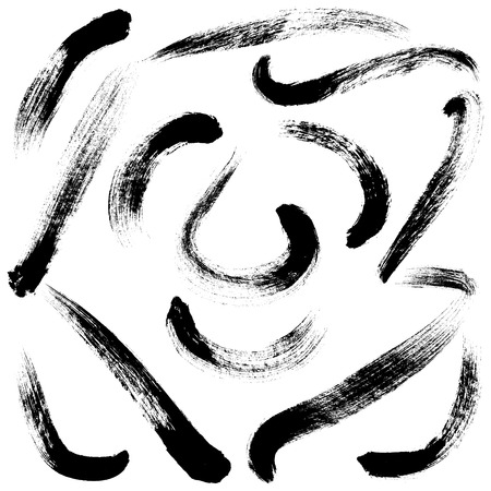 ink painting: Brush Strokes
