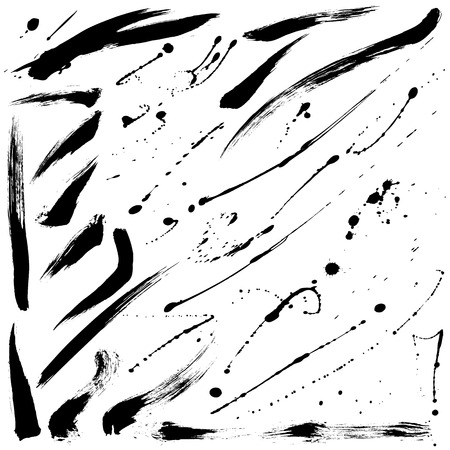 Splatter brushes and Brush Strokes set 012