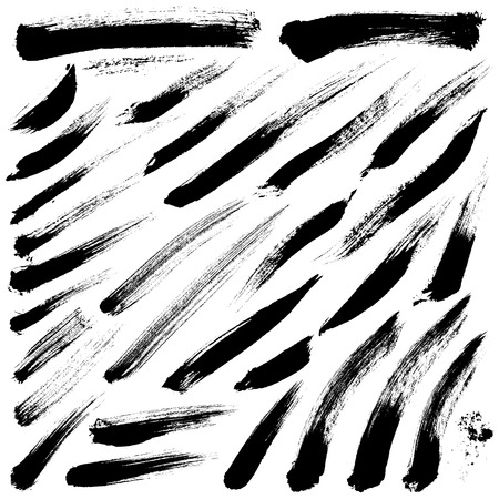 ink painting: Brush Strokes set 013 Illustration