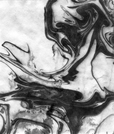 acrylic fiber: Chinese ink effect texture