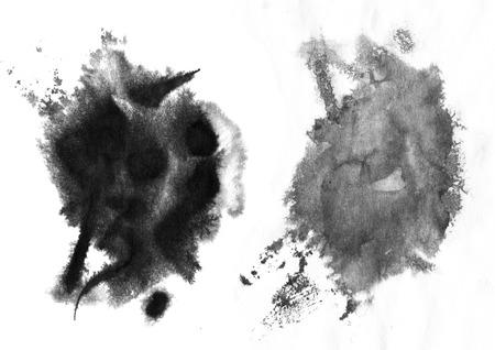 ドロップダウンし、ソフト中国墨の効果