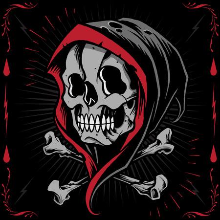 The Reaper and Bone Cross Stock Illustratie