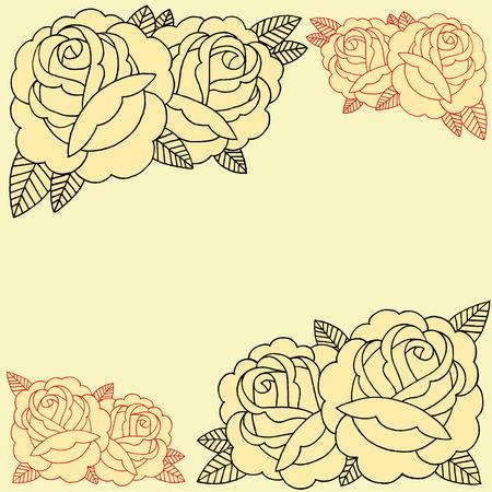 Roses Frame set 007 Vector