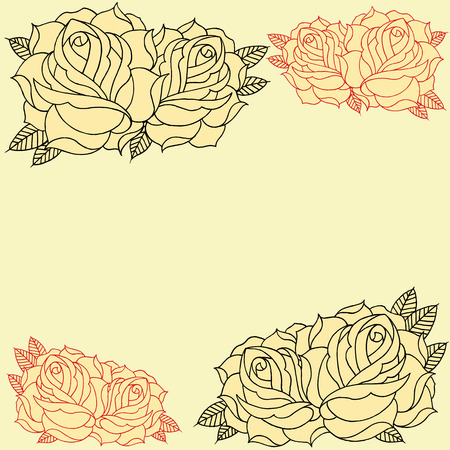 Roses Frame set 008 Vector