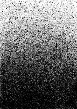 Black Ink Splashes halftone pattern Stock Photo