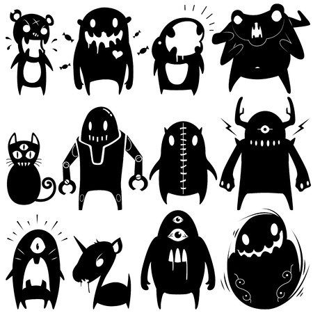 Little Monsters set 06 Illustration