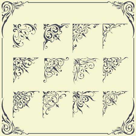 floral border: Corner Frame Ornament