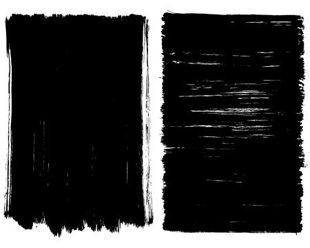 Grunge penseelstreek achtergrond frames