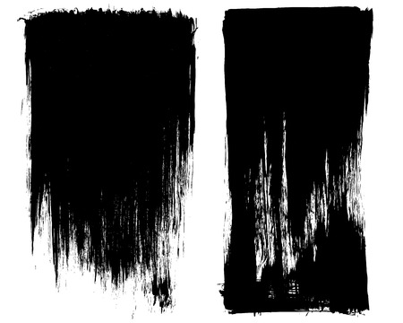black background abstract: Grunge brush stroke background frames