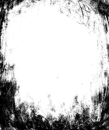 Grunge Frame Texture Vettoriali