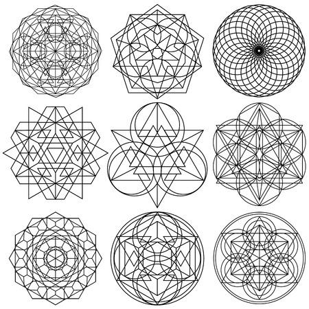 Święty Symbole Geometrii wektora - zestaw 03