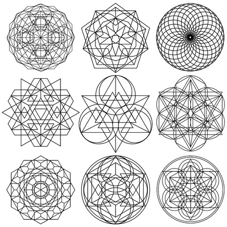 Sacred Geometry Symbols vector - set 03