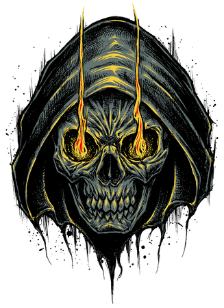 Grim Reaper vector. Illustration